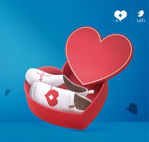 致敬全球抗疫英雄|彩绘旅行鞋品牌UIN捐赠特别版护士鞋