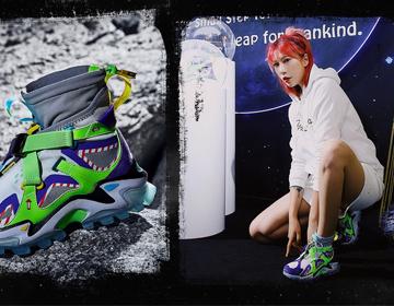 特步与月球跨界 携登月系列登陆Sneaker Con